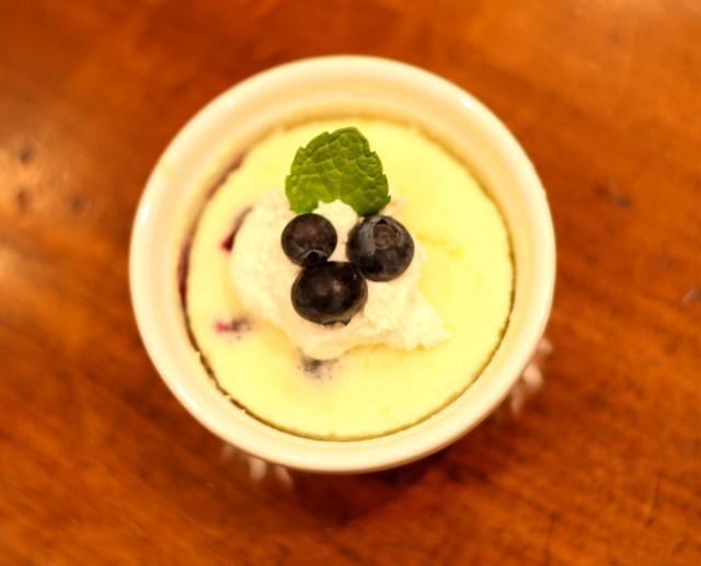 Lemon Blueberry Pudding Cakes